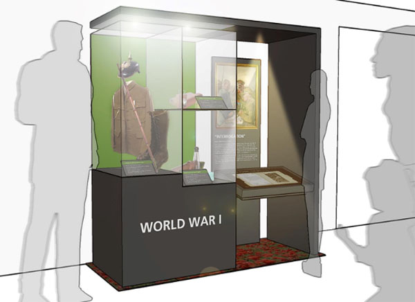 WW1 exhibit design