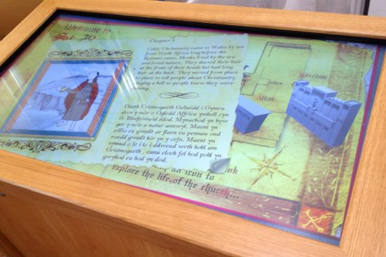 St Barrwgs touch screen history book
