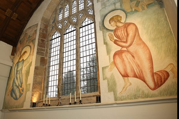 Evelyn Gibbs mural restored St Martins