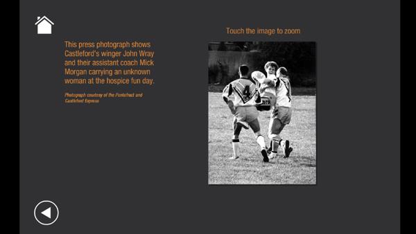 Castleford Rugby interactive exhibit 2
