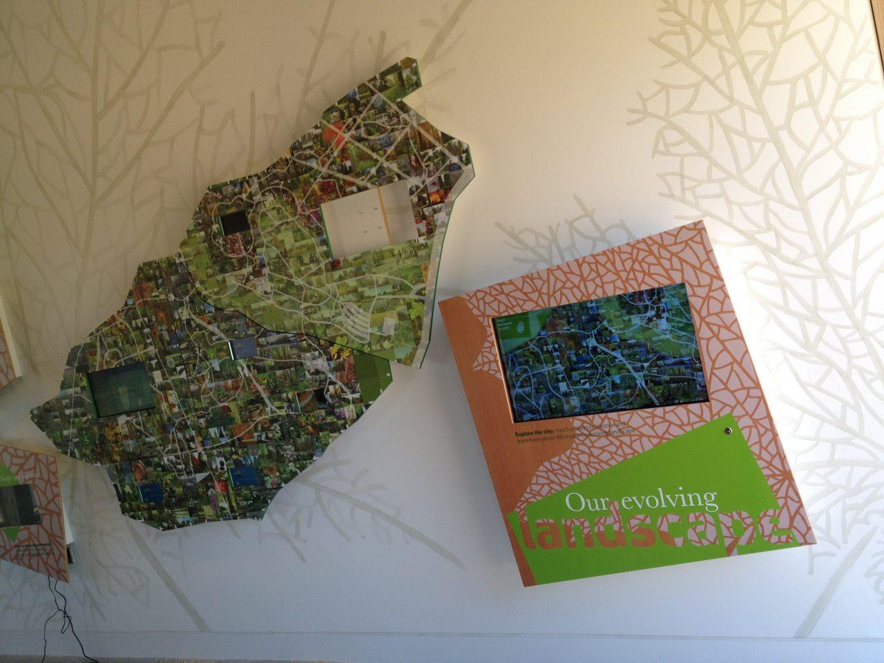 Westonbirt touchscreen mosaic